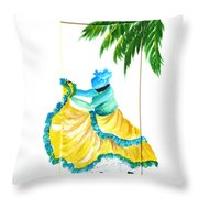 Dance De Belaire Throw Pillow