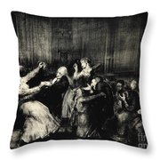 Dance In A Madhouse Throw Pillow