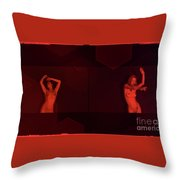 Dance In Nothing But Red By Mb Throw Pillow
