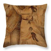Dance In The Country 1883 Throw Pillow