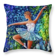 Dance In The Rain Of Color  Throw Pillow