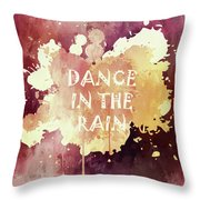 Dance In The Rain Red Version Throw Pillow