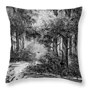 Dance Me To The End Of Love Bw Throw Pillow