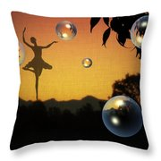 Dance Of A New Day Throw Pillow