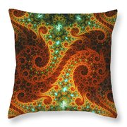 Dance Of Flames Throw Pillow