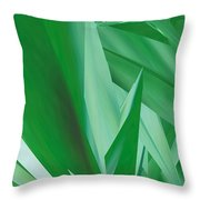 Dance Of Green Leaves Throw Pillow