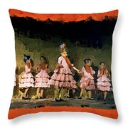 Dance Of La Ninos Throw Pillow