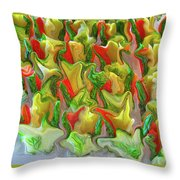 Dance Of The Appetizers Throw Pillow
