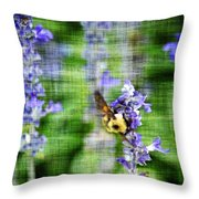 Dance Of The Bubblebee Throw Pillow