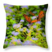 Dance Of The Butterflies Throw Pillow