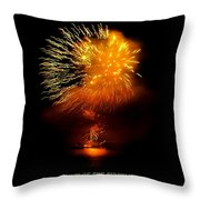 Dance Of The Fireflies Throw Pillow