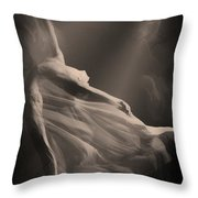 Dance Of The Ghost Throw Pillow