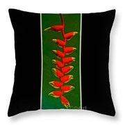 Dance Of The Heliconias Throw Pillow