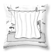 Dance Of The Inconsistent Water Temperature  Throw Pillow