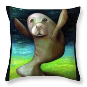 Dance Of The Manatee Throw Pillow