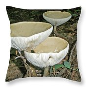 Dance Of The Mushrooms Throw Pillow