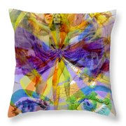 Dance Of The Rainbow  Throw Pillow