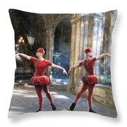 Dance Of The Swiss Guard Throw Pillow