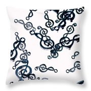 Dance Of The Treble Clef  Throw Pillow