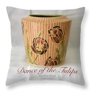 Dance Of The Tulips Throw Pillow