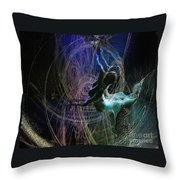 Dance Of The Universe Throw Pillow