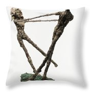 Dance On A Hill Top Back View Throw Pillow