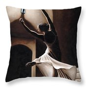 Dance Seclusion Throw Pillow by Richard Young