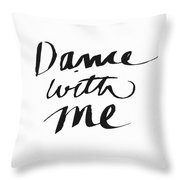 Dance With Me- Art By Linda Woods Throw Pillow by Linda Woods