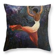 Dancer A Throw Pillow
