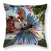Dancer Day Of The Dead II Throw Pillow