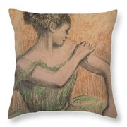 Dancer Throw Pillow by Degas