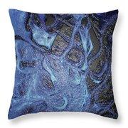 Dancer In Blue Throw Pillow