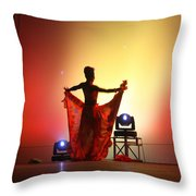Dancer In The Shadows Throw Pillow