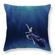 Dancer In The Water  Throw Pillow