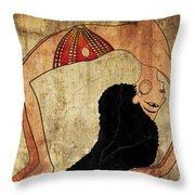 dancer of Ancient Egypt Throw Pillow