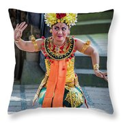 Dancer Of Bali Throw Pillow