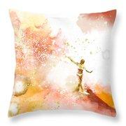 Dancer On Water 2 Throw Pillow