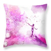 Dancer On Water 4 Throw Pillow