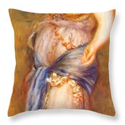 Dancer With Castanettes 1909 Throw Pillow