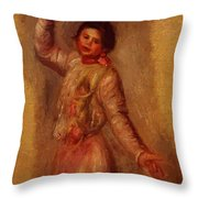 Dancer With Castenets 1895 Throw Pillow