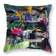 Dancers Day Of The Dead  Throw Pillow
