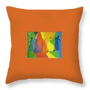 Dancers Throw Pillow