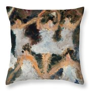 Dancers  Group  Two Throw Pillow