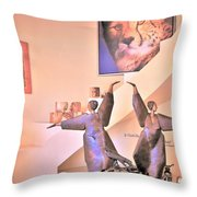 Dancers On El Paseo Throw Pillow