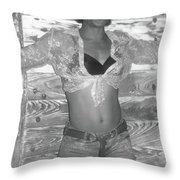 Dancers On The Street Throw Pillow