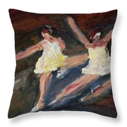 Dancers  One Throw Pillow