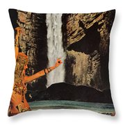 Dances With Death Throw Pillow