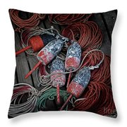 Dances With Lobsters Throw Pillow