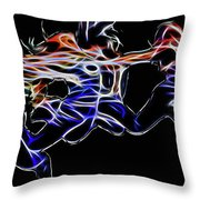 Dancing Abstract Throw Pillow