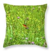 Dancing Among The Flowers Throw Pillow